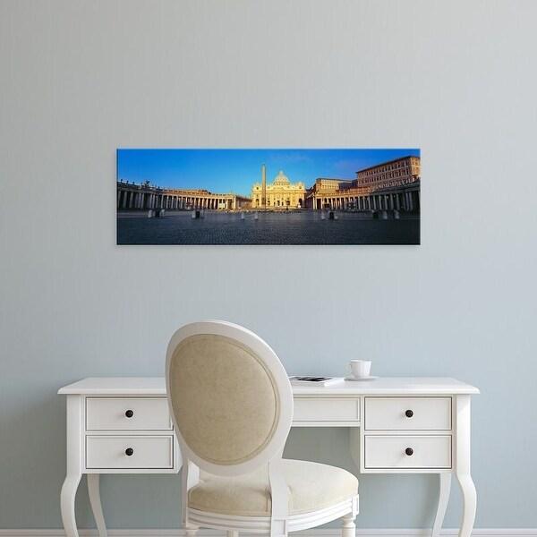 Easy Art Prints Panoramic Image 'St. Peter's Basilica, St. Peter's Square, Vatican city, Rome, Lazio, Italy' Canvas Art