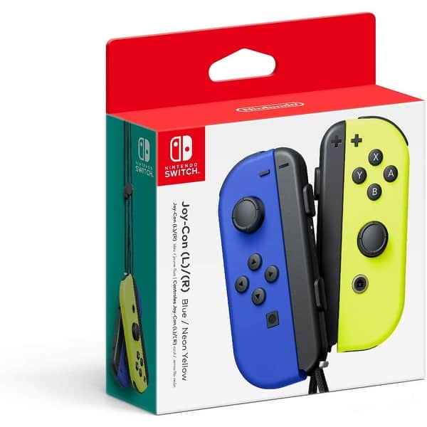 Shop Black Friday Deals On Nintendo Joy Con L R Wireless Controllers For Nintendo Switch Blue Neon Yellow Blue Yellow Overstock 30502235
