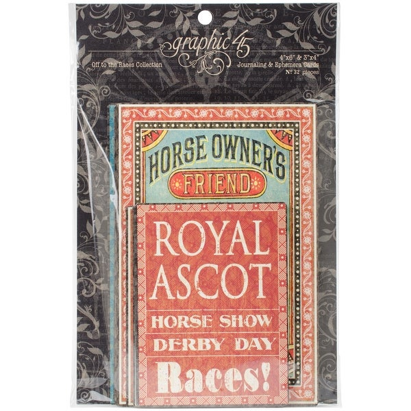 Off To The Races Ephemera Cards-