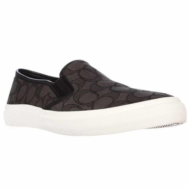 Coach Chrissy Slip-On Fashion Sneakers - Black Smoke/Black