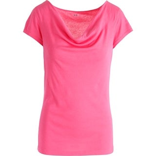 Three Dots Womens Modal Blend Cap Sleeves Casual Top - L