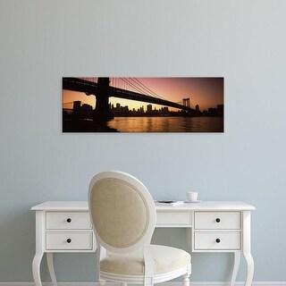 Easy Art Prints Panoramic Images's 'View of a bridge, Manhattan Bridge, Lower Manhattan, New York city' Canvas Art