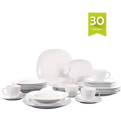 MALACASA, Series Elisa, 30-Piece Dinnerware Set, Service for 6