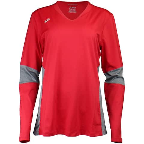 Asics Womens Decoy Long Sleeve Volleyball Athletic T-Shirt