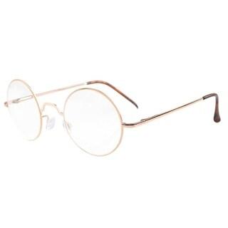 Eyekepper Spring Hinges Round Reading Glasses Gold +0.75