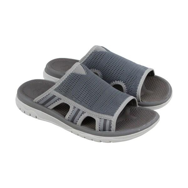 5b4b63c57d42 Shop Clarks Balta Ray Mens Gray Synthetic Flip Flops Slip On Sandals ...