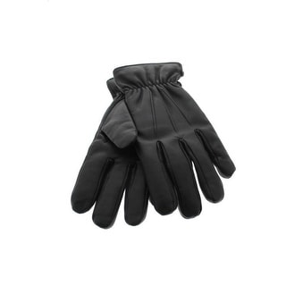 Isotoner Mens Leather Pintuck Driving Gloves - M