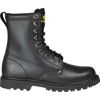 "Roadmate Boot Co. Men's 810 8"" Steel Toe Work Boot Black Oil Full Grain Leather"