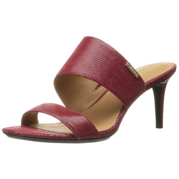 Calvin Klein Womens Lanoe Open Toe Casual Slide Sandals