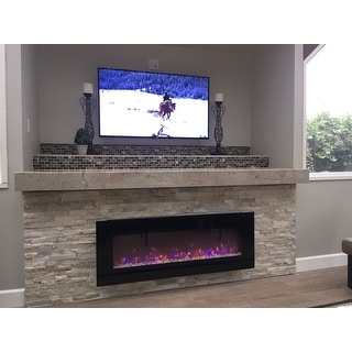 Northwest Led Fire And Ice Electric Fireplace Heater With Remote ...