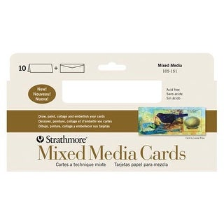 "Strathmore - Mixed Media Cards - 3.5"" x 4.875"" - 10/Pkg."