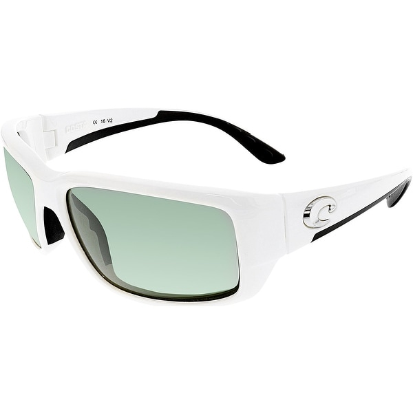 ca32fd9b83 Shop Costa Del Mar Polarized Fantail TF25OGGLP White Rectangle Sunglasses -  Free Shipping Today - Overstock.com - 18900241