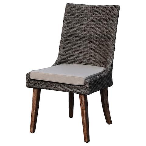 Courtyard Casual Cosmos FSC Teak 2 Side Chairs