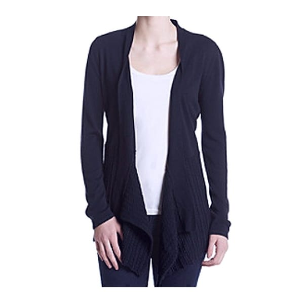 b6025b74d66 Ivanka Trump NEW Navy Blue Women XS Flyaway Knit Cardigan Sweater