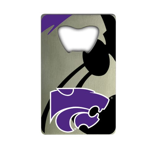Kansas State University Metal Credit Card Bottle Opener - 2in. X 3.25in.