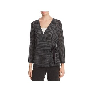Eileen Fisher Womens Kimono Cardigan Stripe