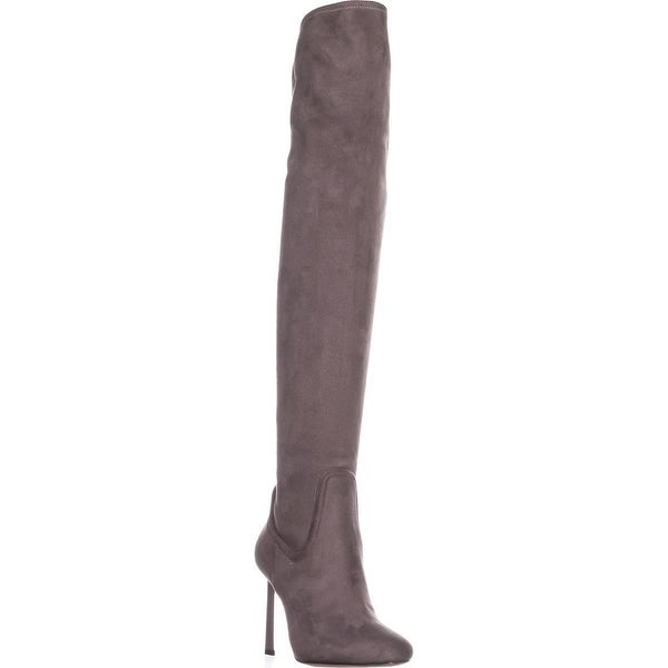 Nine West Uptowngirl Over The Knee Dress Boots, Grey - 7.5 us