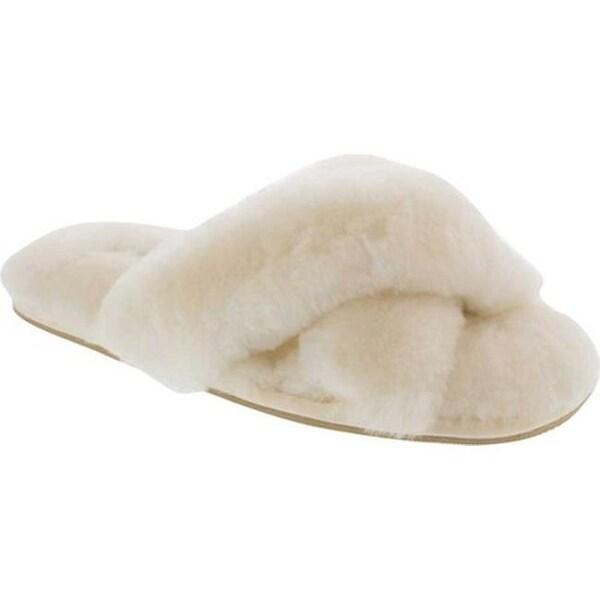 bbb36bb53c771 Patricia Green Women's Mt. Hood Fluffy Slipper Ivory Shearling