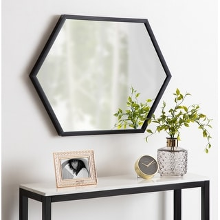 Link to Kate and Laurel Laverty Framed Hexagon Wall Mirror Similar Items in Mirrors