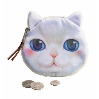 Women's Cat Face Coin Purse - White - One size