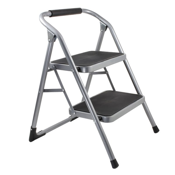 Helping Hand 2-Step Folding Step Stool with Oversized Steps and 220 lb. Weight Capacity