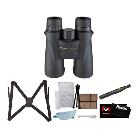 Nikon Monarch 5 8x42 Roof Prism Binoculars (Blk) w/ Bino Caddy Bundle