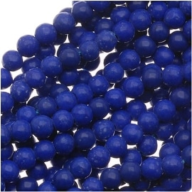 Dyed Blue Lapis-Color Howlite 2mm Round Beads 16 Inch Strand