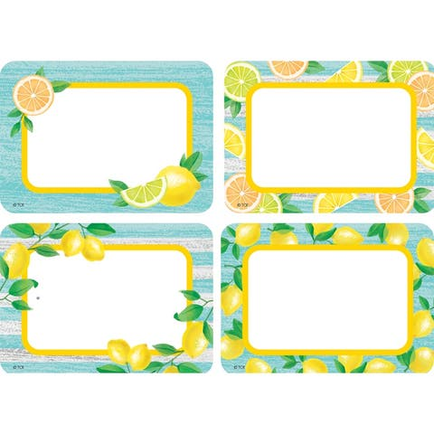 Lemon Zest Name Tags/Labels - Multi-Pack, Pack of 36 - One Size
