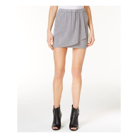 KENSIE Womens Gray Faux Suede Mini A-Line Skirt Size M