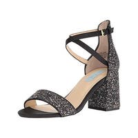 Betsey Johnson Womens Lane Evening Sandals Glitter Open Toe