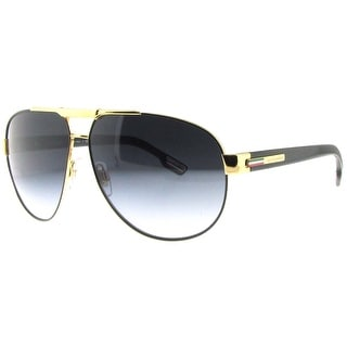 DOLCE & GABBANA Aviator DG 2099 Unisex 1081/8G Gold/Black Grey Gradient Sunglasses - 61mm-11mm-135mm