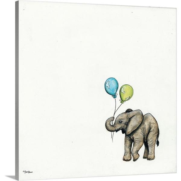 """Nursery Elephant"" Canvas Wall Art"