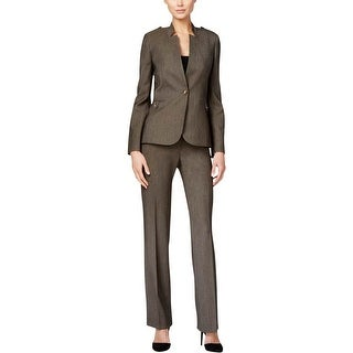 Tahari ASL Womens Petites Pant Suit Textured Long Sleeves - 14P
