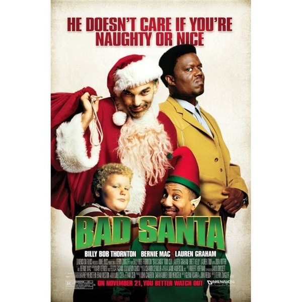 Shop Bad Santa Movie Poster One Sheet Poster Print 24 X 36 In