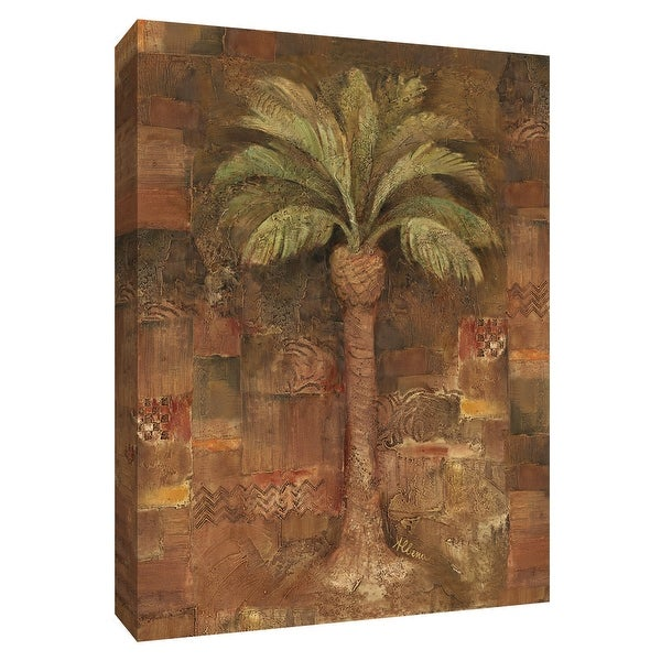 """PTM Images 9-154639 PTM Canvas Collection 10"""" x 8"""" - """"Spice Palm I"""" Giclee Palm Trees Art Print on Canvas"""