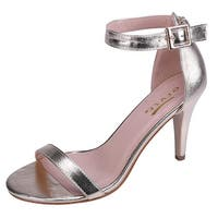 Glaze Women's Ankle Strappy Open Toe Stiletto Heel Dress Sandal