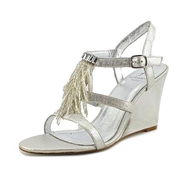 Adrianna Papell Adair Women Silver Kaftan Metallic Sandals