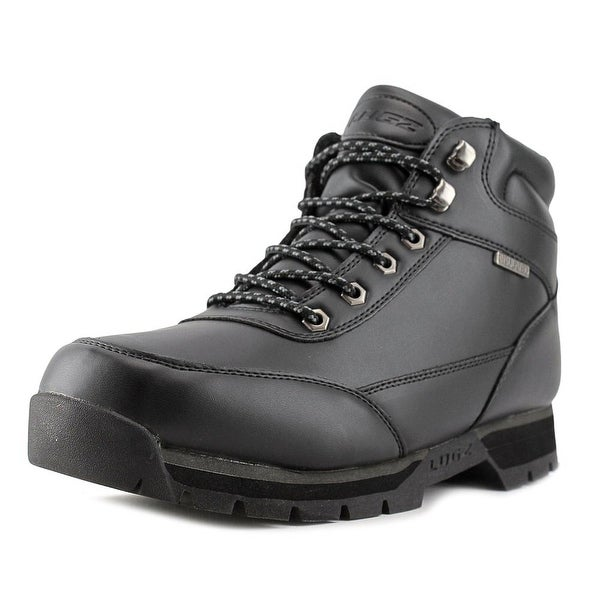 Lugz Scavenger Men Round Toe Leather Black Boot