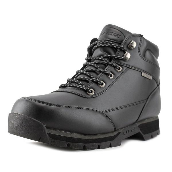 Lugz Scavenger Men  Round Toe Leather Black Boot