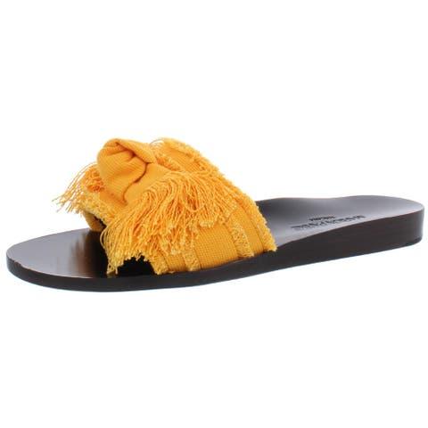 Marion Parke Womens Jordan Slide Sandals Fringe Bow