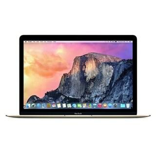 Apple Macbook 12-inch 256GB Intel Core M Dual-Core Laptop - Gold (Certified Refurbished)