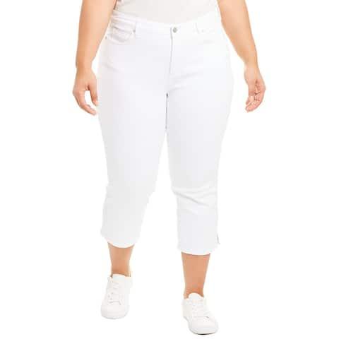 Nydj Plus Optic White Skinny Capri
