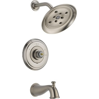 Delta T14497-LHP  Cassidy Monitor 14 Series Single Function Pressure Balanced Tub and Shower Trim Package with H2Okinetic Shower