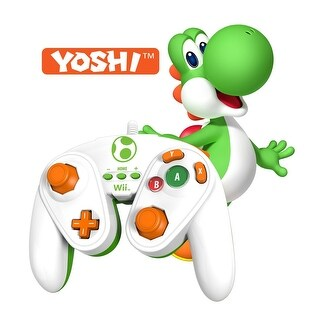 PDP Wired Fight Pad for Nintendo Wii/Wii U - Yoshi (White/Green/Orange)