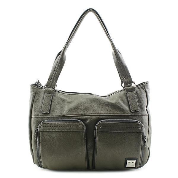 Relic Bryce Double Shoulder Women PVC Shoulder Bag - gray