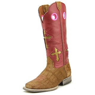 Ariat Ranchero Toddler Square Toe Leather Pink Western Boot