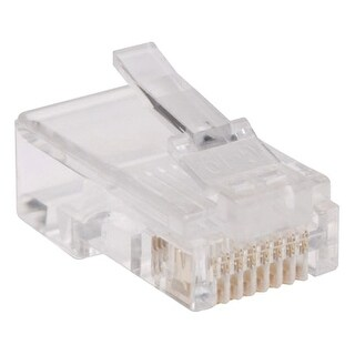 """""""Tripp Lite N030-100-FL Tripp Lite N030-100-FL 100-Pack of RJ45 Plugs for Flat Solid / Stranded Conductor Cable - 100 Pack - 1 x"""
