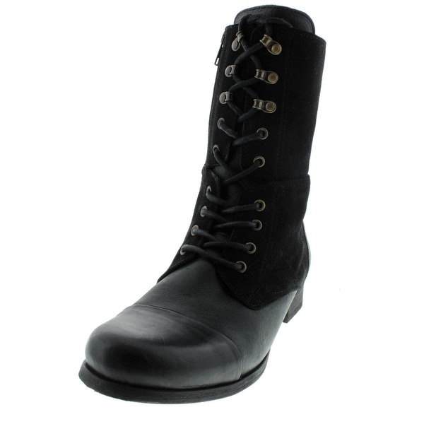 Diesel Womens The Wild Land Give Lace-Up Boot Suede Combat