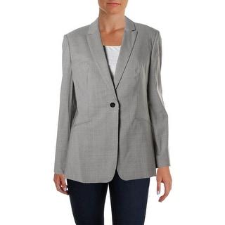 BOSS Hugo Boss Womens Jabina2 One-Button Suit Jacket Front Button