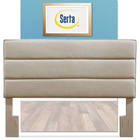 Serta Palisades Upholstered Headboard, Queen Size, Soft Beige